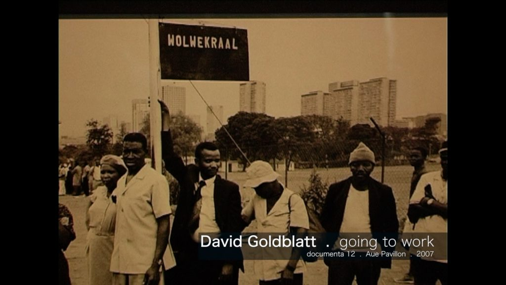 David Goldblatt - going for work