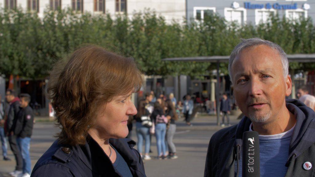 Regina Oesterling und Stephan Haberzettl im artort.tv Gespräch