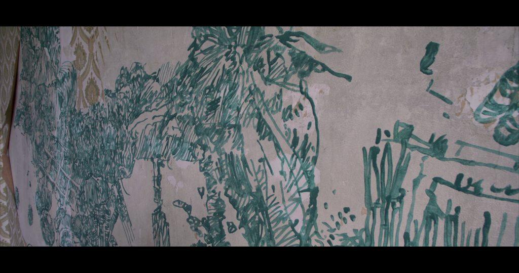 Mit grüner Tusche hat Ubbo Kügler Zimmer 23 gestaltet