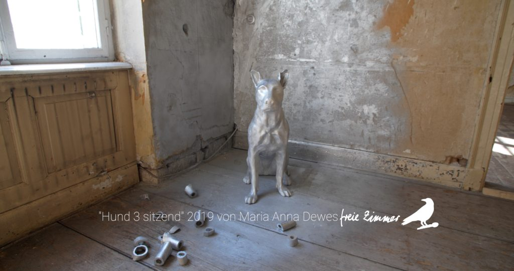 """Die Arbeit """"Hund 3 sitzend"""" von Maria Anna Dewes"""