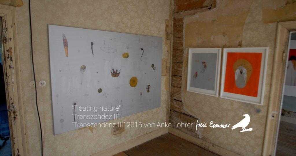 Die Arbeiten von Anke Lohrer in Zimmer 2 der Beletage